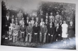 Der Chor am Erntedank-Fest 1948